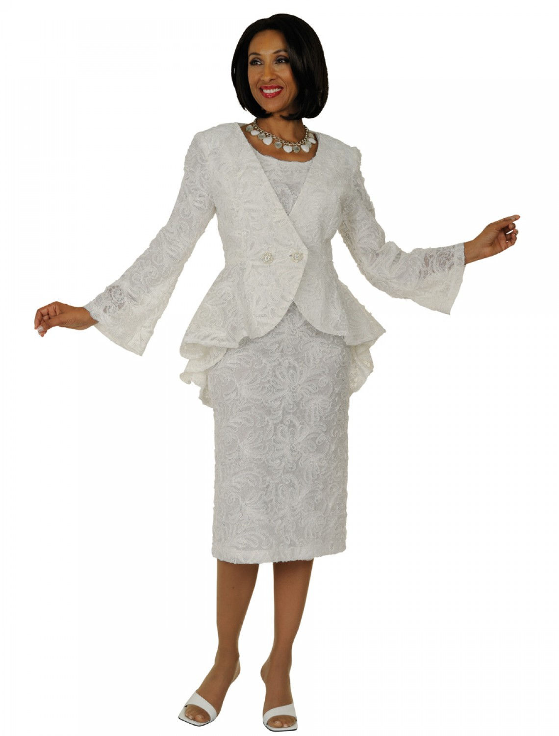 Women Dresses IVORY DN5222 | | Not Just Church Suits