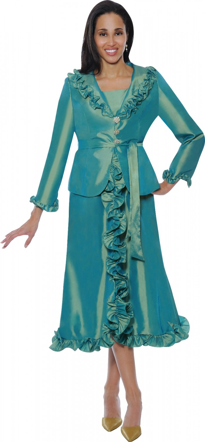Women Dresses GREEN DN5352 | | Not Just Church Suits