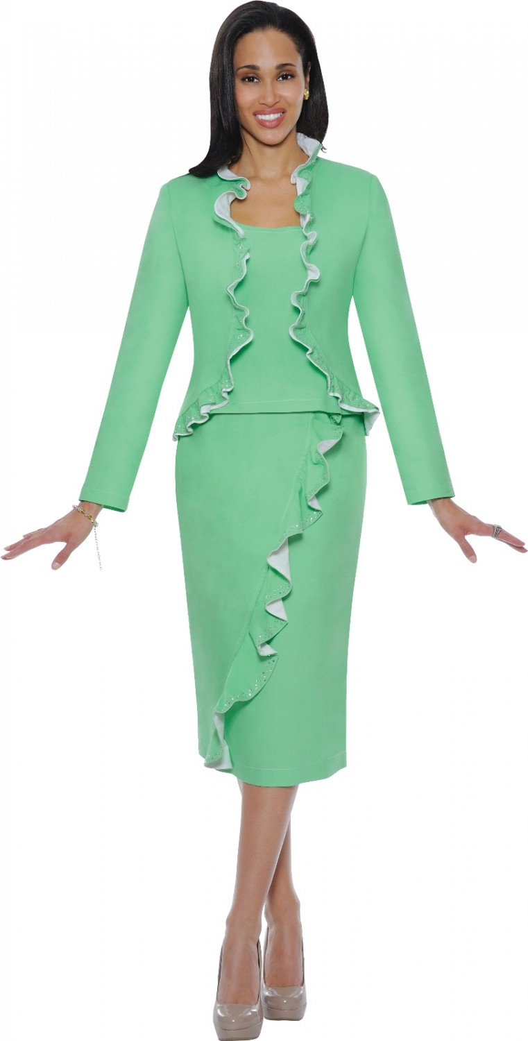 Women Casual Wear Green Ds50143 Not Just Church Suits