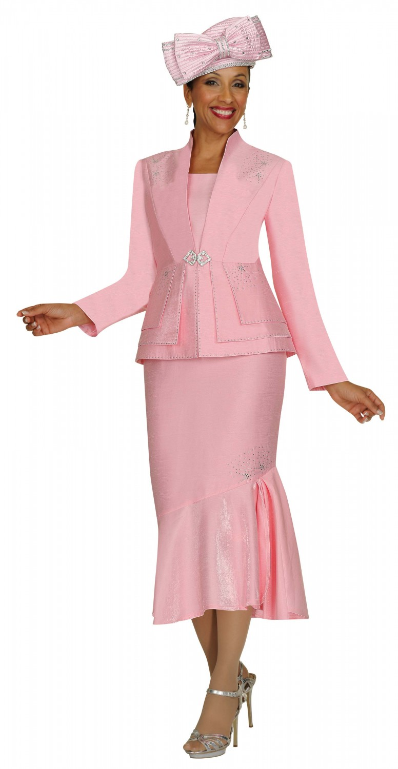 Women Church Suits BABY PINK G4263
