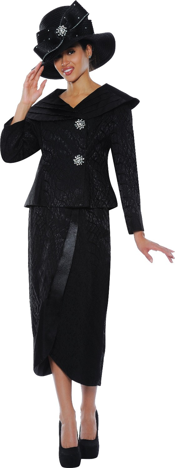 Elegant Women Church Suits BLACK N94353  N94353  Not Just Church Suits