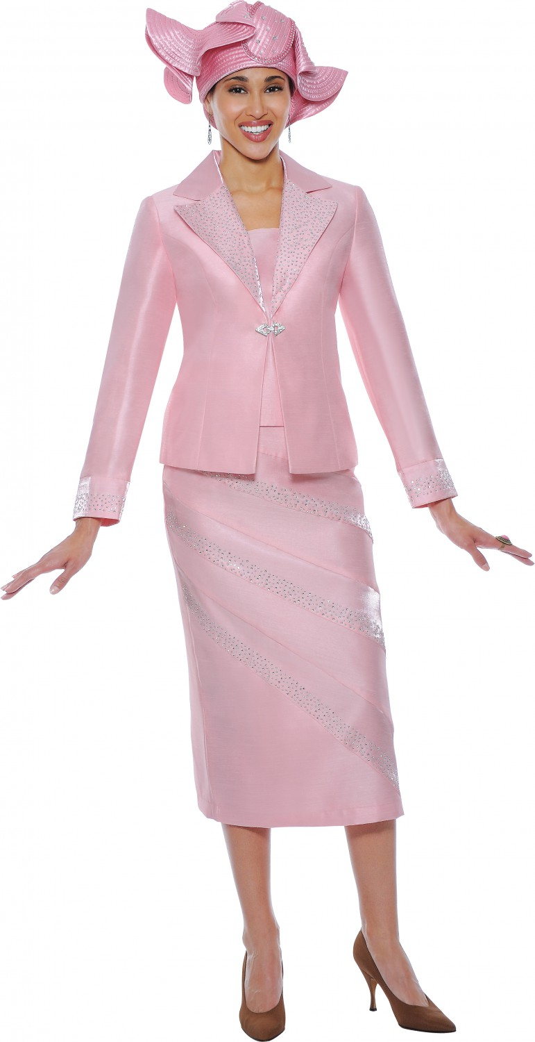 Women Church Suits Baby Pink G4742