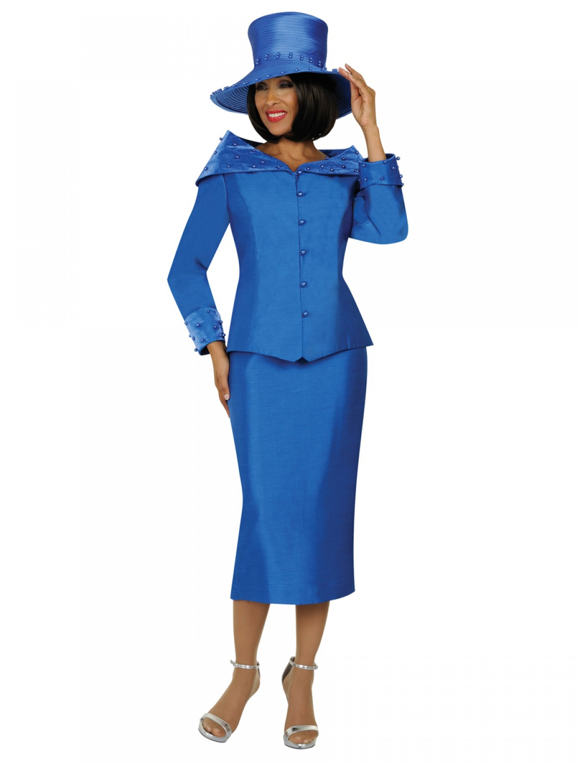 Women Church Suits ROYAL BLUE G4802     Not Just Church Suits