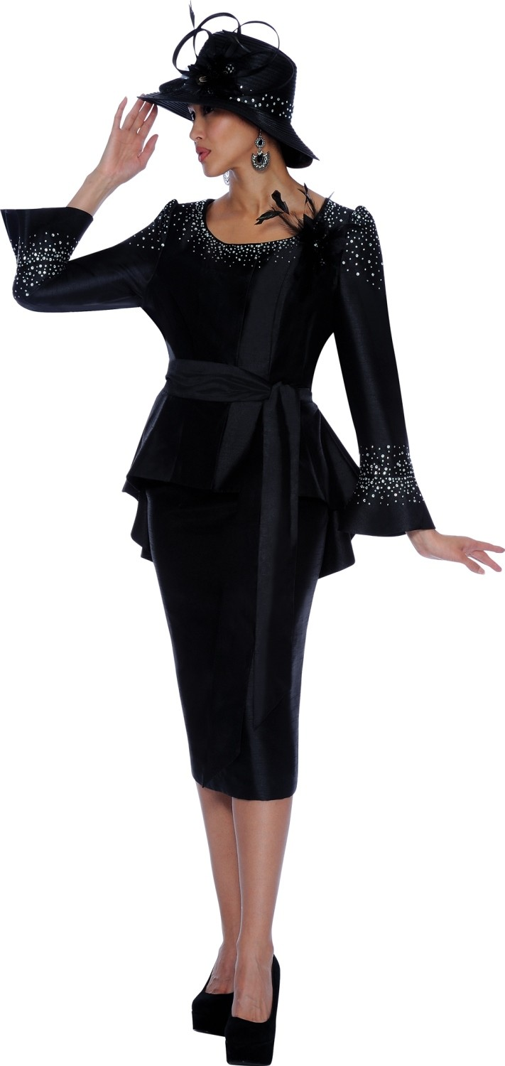 Lastest Black Women Church Suits And Hats