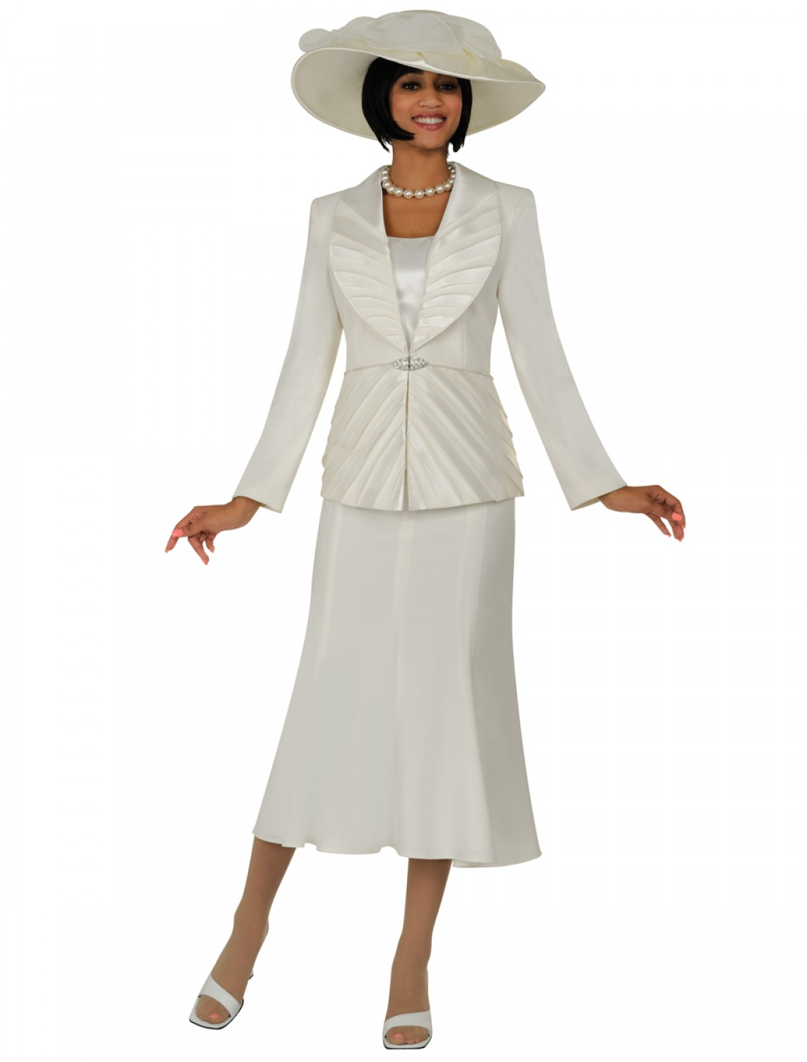Ivory Women Church Suits