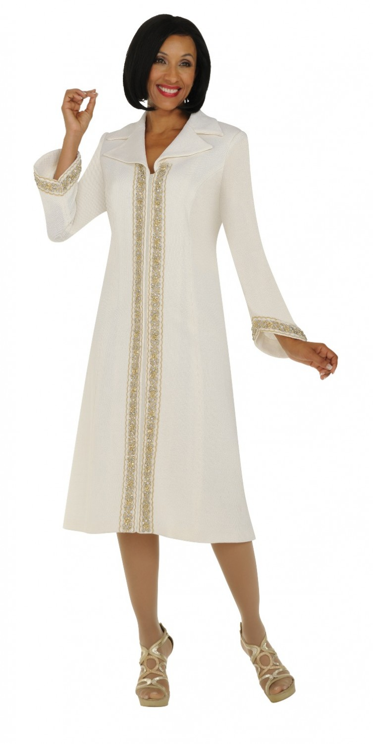 Women Church Suits WHITE TD94091 | One piece notch collar coat ...