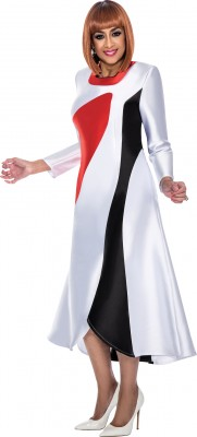 Church Suits-DCC191 - WHITE / BLACK / RED