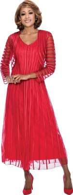 Dresses-DCC942 - RED