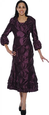 Dresses-DN5362 - Burgundy