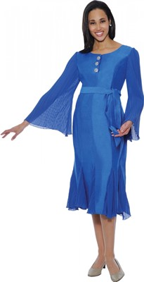 Dresses-DN5581 - ROYAL BLUE