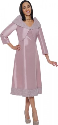 Dresses-DN5602 - DUSTY ROSE