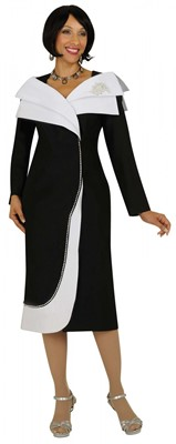 Dresses-DN5621 - BLACK/ WHITE</h3>