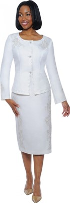 Church Suits-DS50152 - White / Silver