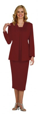 Usher Suits-G13270 - BURGUNDY