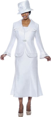Church Suits-G4292 - WHITE / WHITE