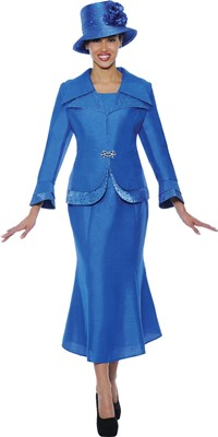 Church Suits-G4292 - Perri  Blue