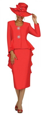 Church Suits-G4322 - BRIGHT RED