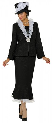 Church Suits-G4373 - BLACK WHITE