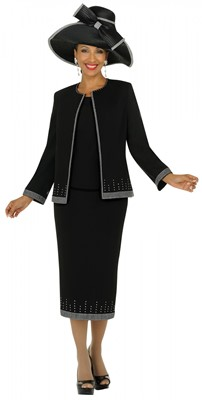 Church Suits-G4393 - BLACK