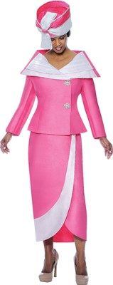 Church Suits-G4522 - Magenta / White