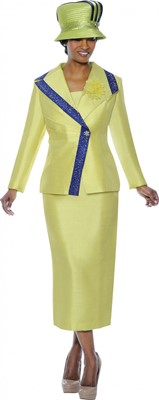 Church Suits-G4662 - Citrus / Purple