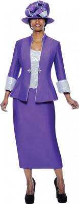 Church Suits-G4703 - Purple / Silver