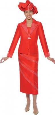 Church Suits-G4742 - Red