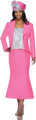 Church Suits-G4763 - Magenta / Silver