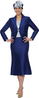 Church Suits-G4763 - Navy / Silver