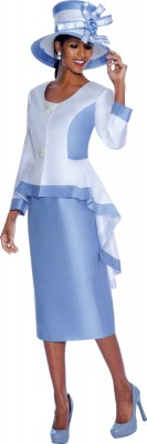 Church Suits-G5032 - White / Blue