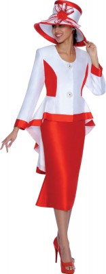 Church Suits-G5032 - White/Red