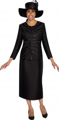 Church Suits-G5253 - BLACK