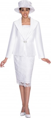 Church Suits-G5273 - WHITE