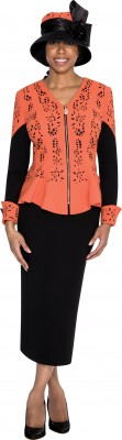 Church Suits-G5362 - ORANGE