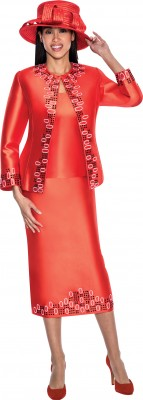 Church Suits-G5383 - RED