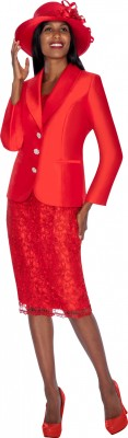 Church Suits-G5972 - RED