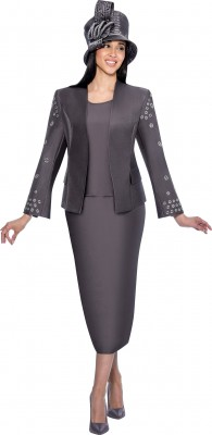 Church Suits-G6333 - GUN METAL GREY