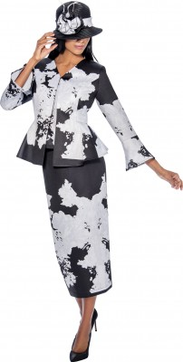 Church Suits-G6363 - BLACK WHITE