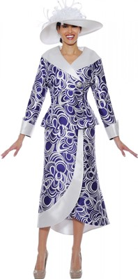 Church Suits-N94812 - Purple / White