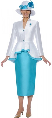 Church Suits-N95472 - White / Turquose
