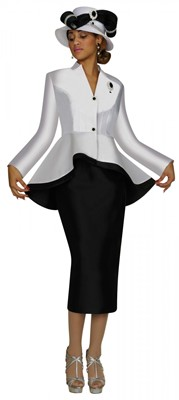 Church Suits-N95472 - WHITE / BLACK