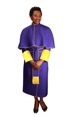 Choir Robes-RR9002 - PURPLE/GOLD