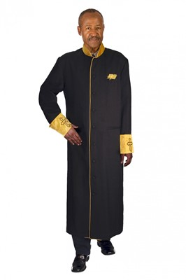 Choir Robes-RR9091 - BLACK/GOLD