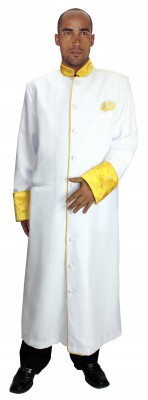 Choir Robes-RR9091 - WHITE/GOLD