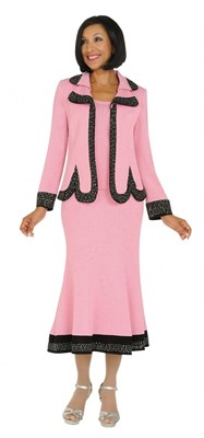 Church Suits-TD94013 - PINK/BLACK