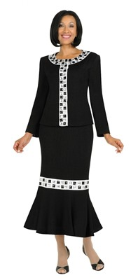 Church Suits-TD94072 - BLACK WHITE